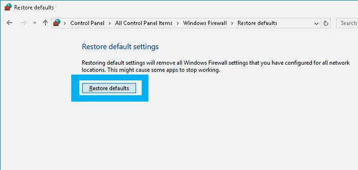 How to Reset Firewall Settings to Default in Windows 10
