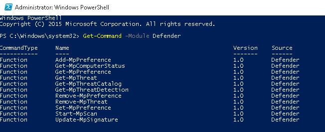 powershell module defender