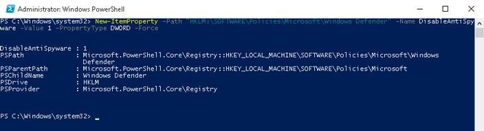 powershell newitemproperty