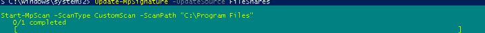 powershell start mpscan