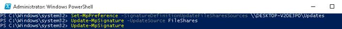powershell update mpsignature