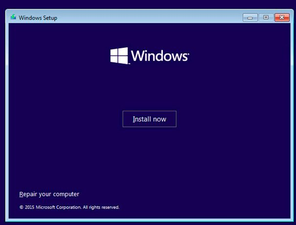 OS install windows VM