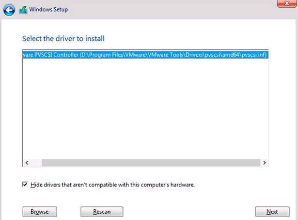 windows 10 vmware driver