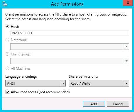 add permissions