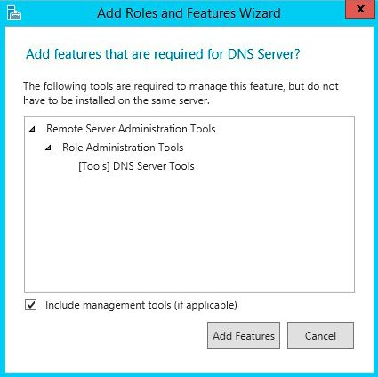 add roles features dns