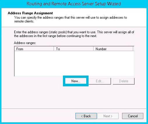 address range assigment