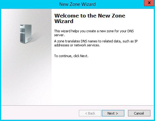 bew zone wizard dns