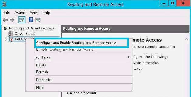 configure routing remote access