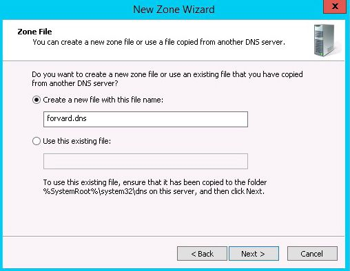 create new zone file dns