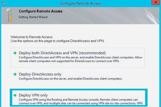 deploy vpn only
