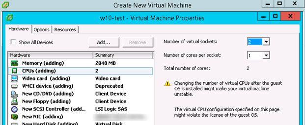 vmware windows 10 esxi 6