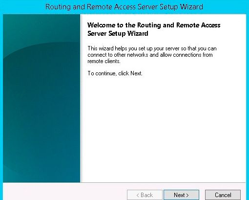 routing remote access setup