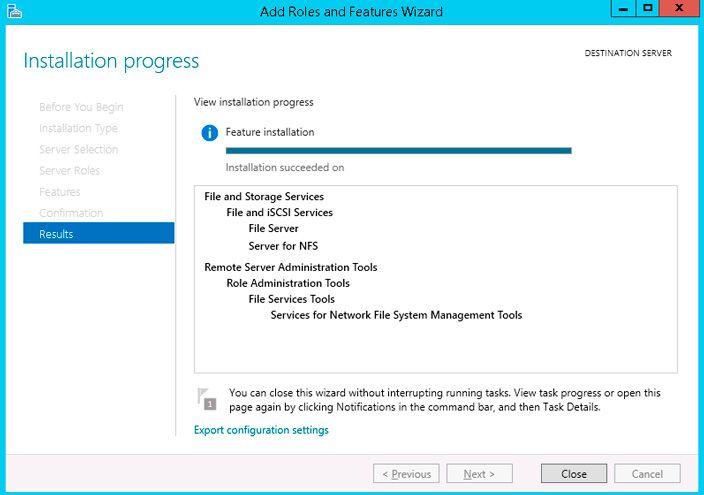 server for nfs installation