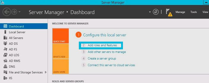 server manager add roles features