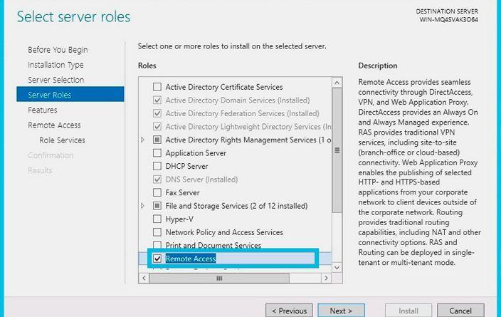 server role remote access