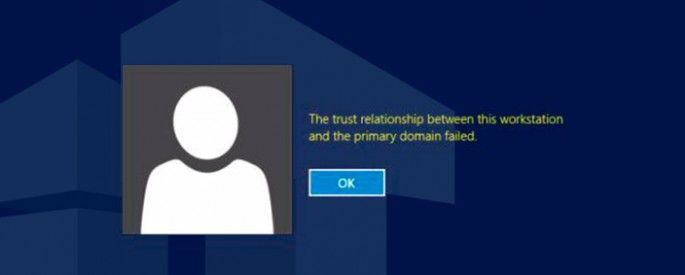 trust relationship failed error