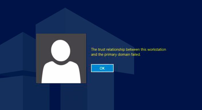 fix trust relationship failed issue without domain