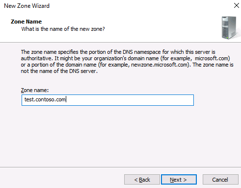 installing DNS Server on Windows Server machine