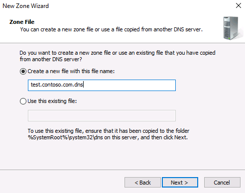 installing DNS Server on Windows Server 2016