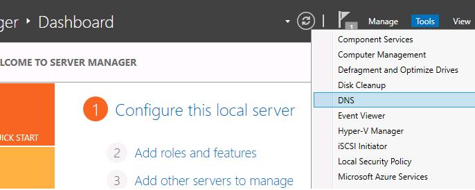 DNS on Windows Server machine