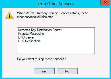 active directory stop services