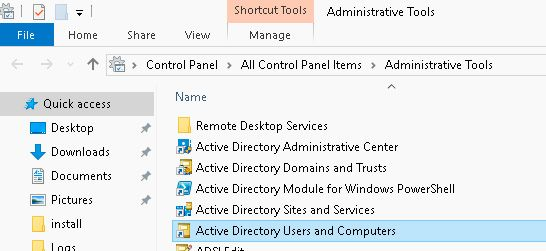 Windows 10 active directory users computers