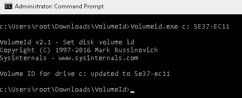 cmd volume id