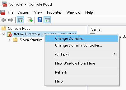 console change domain