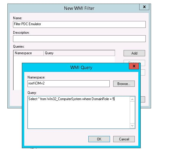domain role ntp group policy
