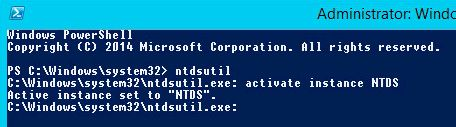 ntdsutil powershell