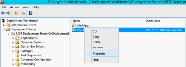 properties ms office 2016
