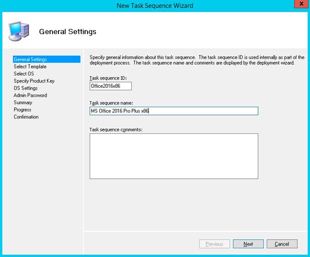 task sequence ms office 2016