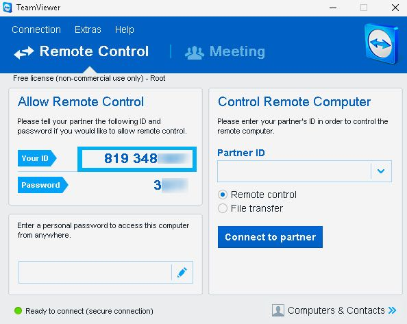 team viewer remote control