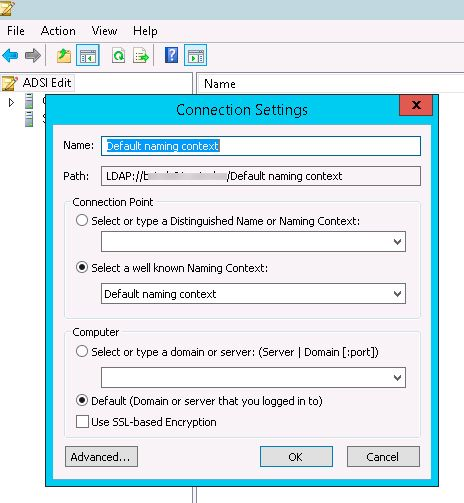 active directory connection settings