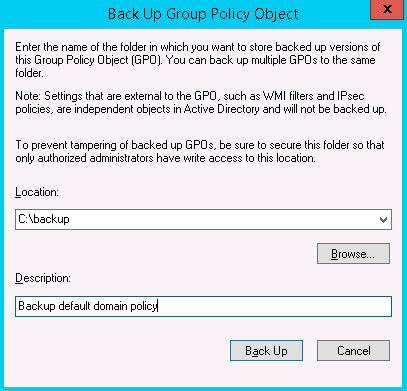 gpo backup object
