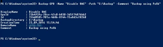 gpo backup powershell