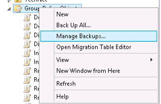 gpo manage backups