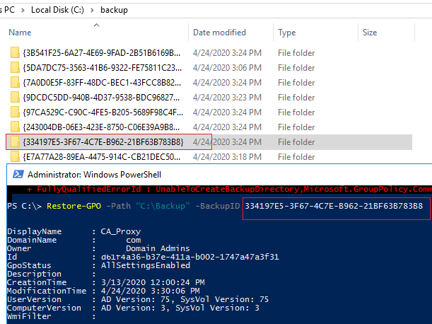 powershell backup gpo