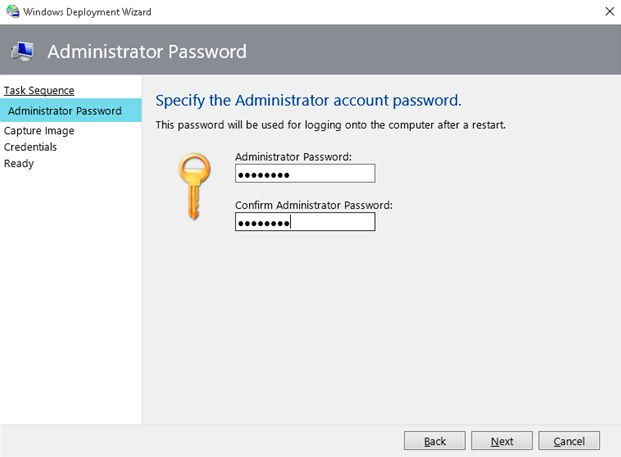 password mdt capture image