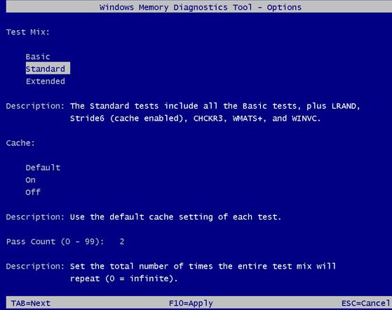 test ram windows 10 cmd