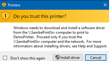 gpo allow users to install printers