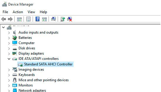 device manager sata