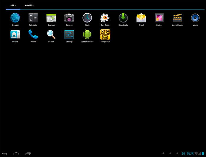 windroy android menu