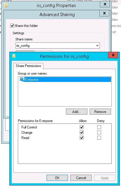 iis config permissions