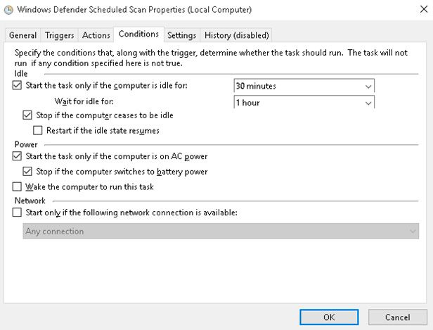 AntiMalware Service Executable conditions