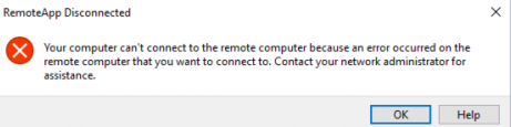 remote desktop can't connect to the remote computer server 2012