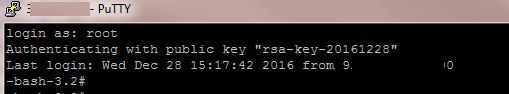 putty SSH key-based authentication