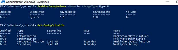 server 2016 deduplication