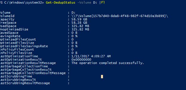 server 2016 data deduplication