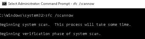 sfc scannow